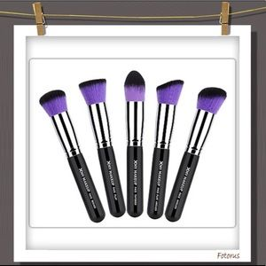 Other - Purple and Black Makeup Brush Set of 5
